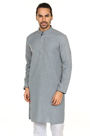 by Anita Dongre Mens Printed Long Pullover Kurta Tunic with