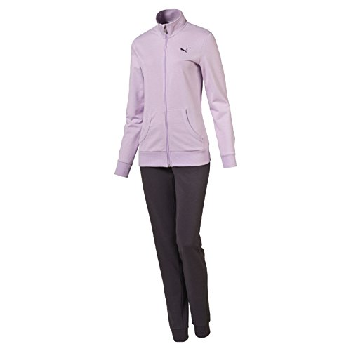 Puma Ess Sweat Suit Cl Tuta, Lilla/Grigio scuro (Orchid Bloom/Periscope), L