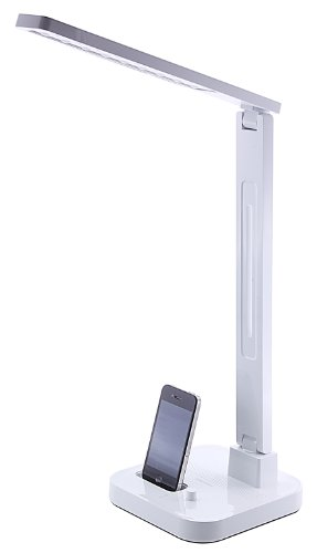 Diasonic-LED-Desk-Lamp-with-iPod-Dock-and-Speaker-Compatible-with-iPhone-33G3GS44S-iPod-Touch-4th-Generation-and-iPod-Nano-6th-Generation-White
