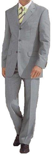 MUGA Pinstripe mens Suit + Waistcoat, Grey, size 54L (EU 122)