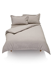 Pure Linen Striped Duvet Cover