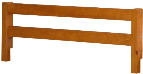 100-Solid-Wood-Safety-Rail-Guard-by-Palace-Imports-Honey-Pine-Color-145H-x-425W-2x-2-Posts-Rubberized-Metal-Connectors-Included-Mattress-Height-Up-To-8-Requires-Assembly