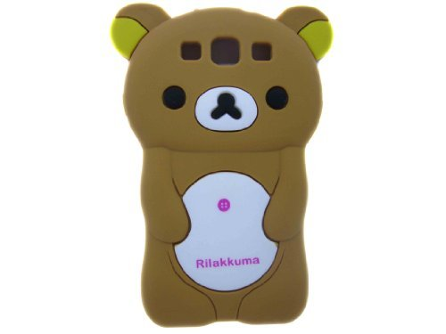 Brown 3d Rilakkuma Bear Soft Silicone Case for