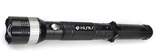 Klau Multifunctional Tactical Cree LED Handheld Flashlight Knife with Attack Hammer Water Resistant Rechargeable Adjustable Focus Zoom Torch for Camping