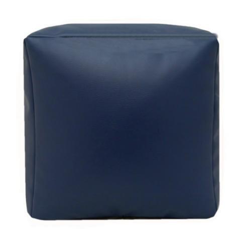Faux Leather Cube Shaped Pouffe Seat Footrest Medium