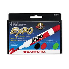 EXPO® Dry Erase Markers, Chisel Tip, Assorted, 4/Set bronco expo fiesta michoacan