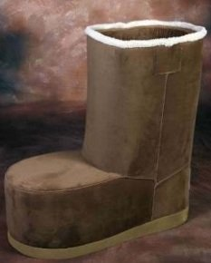 Uggster Uggs Boots Childu0027s Chair Chocolate Microfiber Gamers Chair : boot chair - Cheerinfomania.Com