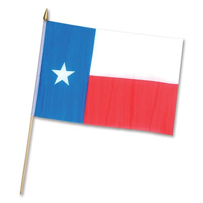"Texas Flag - Rayon 11"" x 18"" Party Accessory"