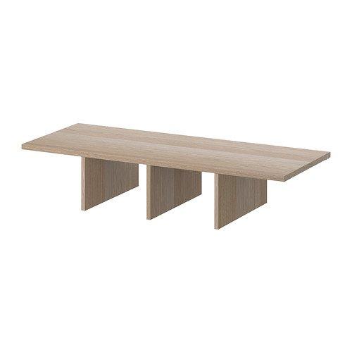 IKEA-KOMPLEMENT-Regaleinsatz-wei-gebeizter-Eiche-Effekt-100x35x19-cm
