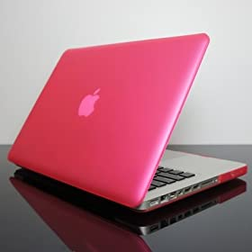 NEW DESIGN TopCase PINK Rubberized Crystal See Thru Satin Hard Case Cover for NEW Macbook Pro 13-inch 13