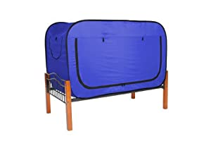 privacy pop bed tent twin blue toys games. Black Bedroom Furniture Sets. Home Design Ideas