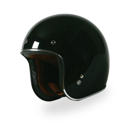 Torc (T50Hf Route 66) 3/4 Helmet With Two Hi-Fi Speakers (Sparkle Black, Large)