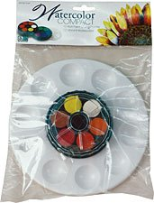Art Advantage ART-3012VP 12 Color Watercolor Compact Paint Set with Palette - 1