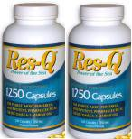 Res-Q 1250 - highest grade EPA & DHA, essential omega-3 fatty acids on the market today ~ 2 - 200 Capsule Bottles