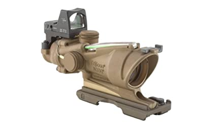 Trijicon TA31-ECOS ACOG 4x32 Flat Dark Earth Scope, Dual Illumination Crosshair Reticle with 3.25 MOA RMR Sight from Trijicon :: Night Vision :: Night Vision Online :: Infrared Night Vision :: Night Vision Goggles :: Night Vision Scope