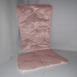 Velvet Crocodile Rocking Chair Cushion - Color: Pink front-783059