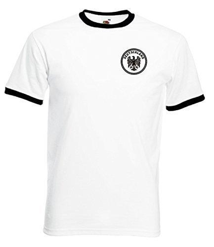 allemagne-deutschland-deutsch-allemand-football-equipe-t-shirt-retro-blanc-noir-large