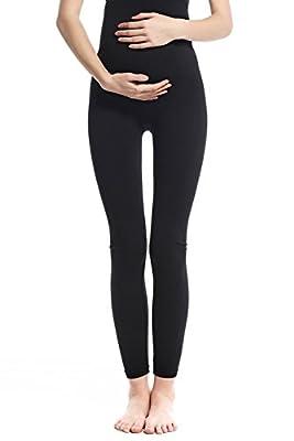 Franato Women's Seamless Full Ankle Length Maternity Stretch Leggings