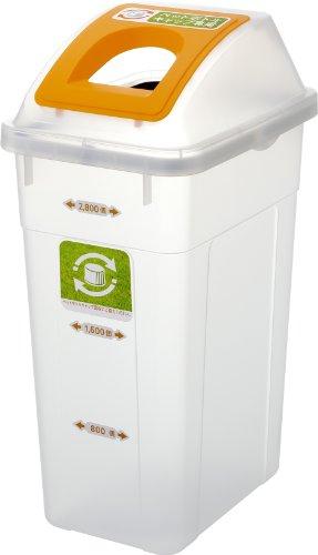 リス『業務用ダストボックス』 ペットボトルキャップ回収容器 2800 クリア