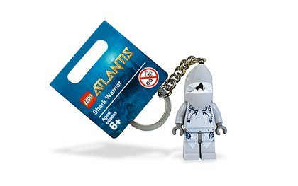 LEGO Exclusive ATLANTIS Shark Warrior 852774 Key Chain NEW Keychain - 1