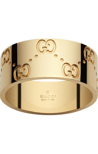 Gucci, anello Icon, medium band, oro giallo