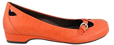 Vionic Sophia Buckle Flat by Orthaheel Orange - 7
