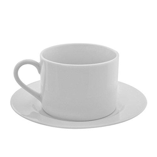 Ten Strawberry Street Z-Ware White Porcelain Can Cup/Saucer, Set of 6, White - Z ;HJ#7-545/MKI94 G1500372