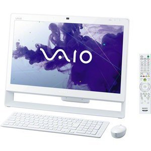 ソニー(VAIO) VAIO Jシリーズ (W7HP64/Ci5/21.5FHD/4G/BD/2T/WLAN/Office/TV) ホワイト VPCJ238FJ/W