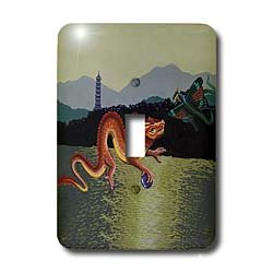 Steve Shachter Art - CHINESE DRAGON - Light Switch Covers - single toggle switch