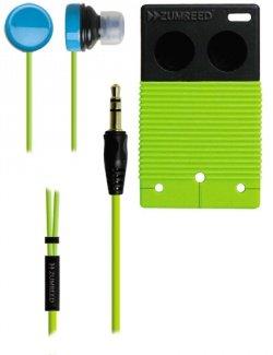 Zumreed / Poppin Bi-Color Earbud Earphones, Lime Yellow