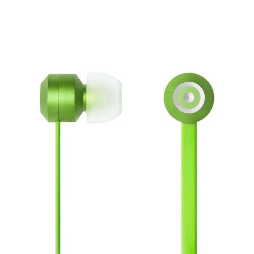 Tenqa Bullsyes In-Ear Earbud Style Hi-Def Headphones With Mic And Remote For Android, Iphone, Ipad, Smartphones -- Green