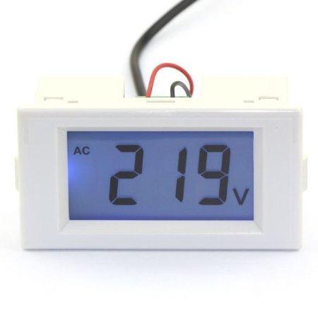 Riorand Digital Electric Volt Meter 80-500V Ac Voltmeter Panel Lcd 110V 220V Voltage Detector Two Wires