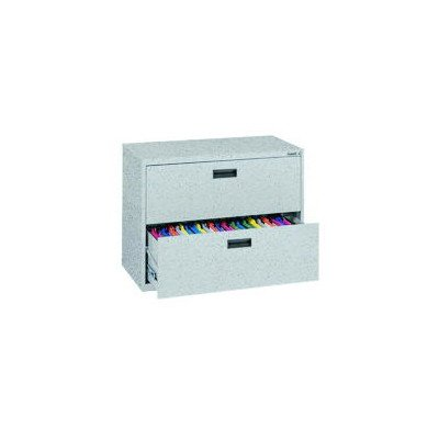 Sandusky Lee E202L-MG 400 Series 2 Drawer Lateral File Cabinet, 18