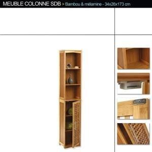 Mobile a colonna per bagno in bamb mobili a colonna - Verniciatura a bagno ...