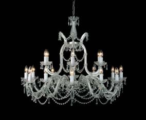 Maria Therese Style Strass Crystal 18 arm Chandelier