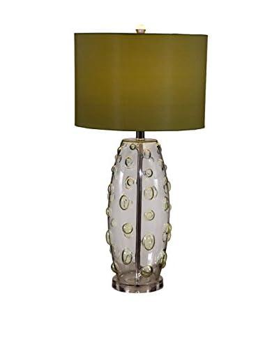 Bassett Mirror Company Bubbles Table Lamp, Apple Green