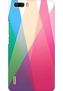 AMEZ designer printed 3d premium high quality back case cover for Huawei Honor 6 Plus (geometric triangl es)