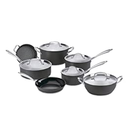 Cuisinart GreenGourmet Eco-Friendly Nonstick Hard Anodized 12-Piece Cookware Set