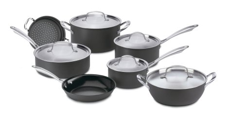 Cuisinart GG-12 GreenGourmet  Nonstick Hard-Anodized 12-Piece Cookware Set