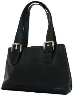 Visconti Leather Handbag Style 18666 Black