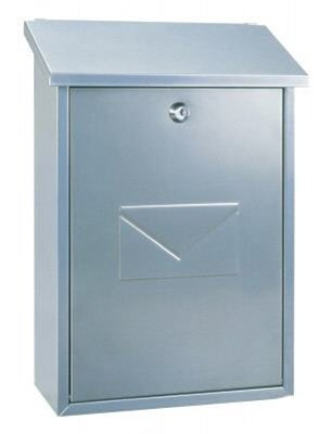 Rottner Parma Top Loading Steel Post Box - Silver