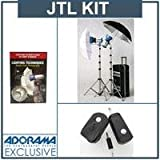 JTL DL-720 Basic Verslight Light Kit, with Two E-360 360 watt Second Monolights, Stands, Umbrellas & Case with Wheels, #92721,, Free!! Radio Trigger plus Receiver Slave Set