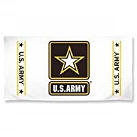 US Army White Beach Towel from Wincraft