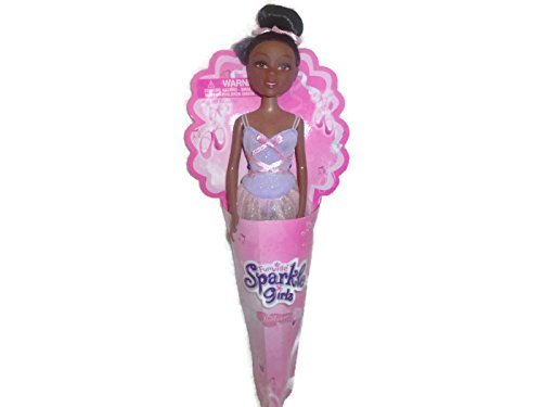 Funville Sparkle Girlz in Cone Ballerina African American Doll - 1