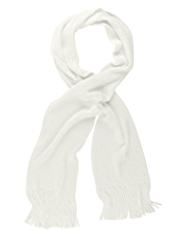 M&S Collection Cashmilon™ Fisherman Ribbed Knitted Scarf