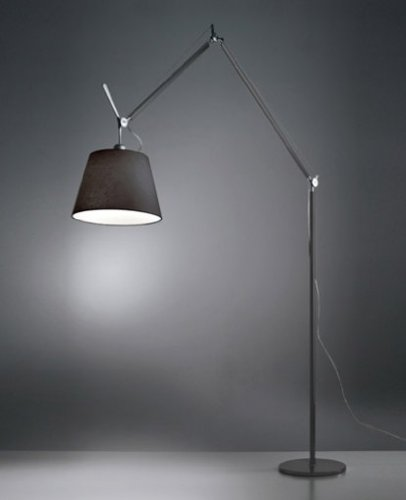 Tolomeo Mega Led Floor Lamp - 220 - 240V (For Use In Australia, Europe, Hong Kong Etc.), Black, Small