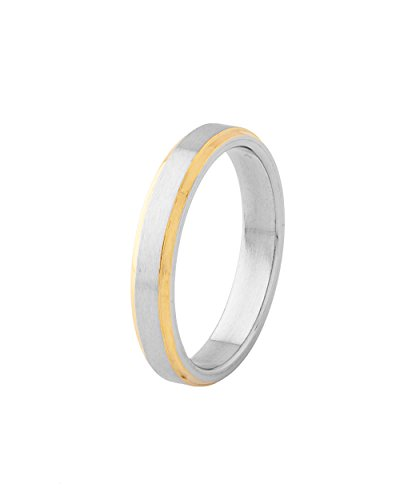 Voylla Sleek Mens Ring With Golden Border (yellow)