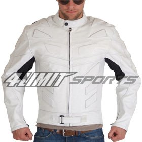 4Limit Sports blouson moto >>Adrenalin<< veste en cuir blanc