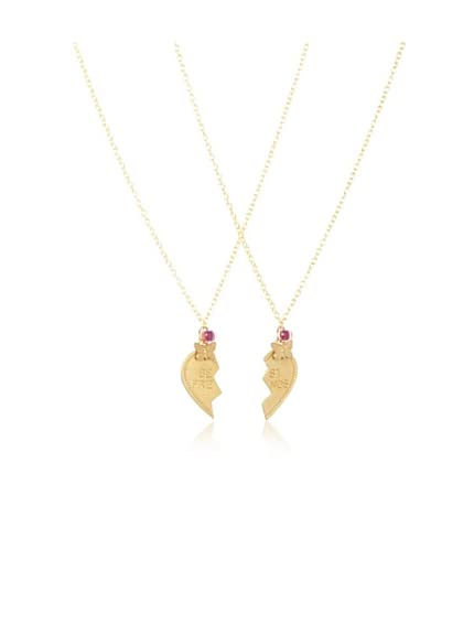 Bottleblond Jewels Kid's Best Friends Heart & Butterfly Necklace Set