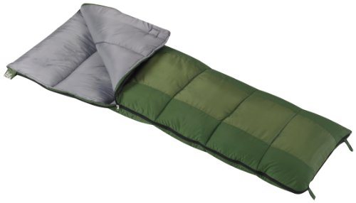 Wenzel Summer Camp Boys 40-Degree Sleeping Bag, Green front-727811